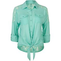 FULL TILT Lace Back Womens Tie Front Top 203134569 | Blouses & Shirts | Tillys.com