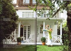 Chic Shack Owners/Founders Garden In London Featured in the Magazine AD Arquitecture Digest -Italy