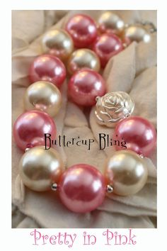 Little Girls Chunky Bubblegum Beaded Necklace  por ButtercupBling, $22.00