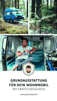 Camper basic equipment for beginners with free checklists - Trend Autos Reinigen Tipps 2020 Minivan Camping, Vw Bus Camping, Go Camping, Camper Hacks, Bus Camper, Luxury Campers, Bus Interior, Camper Awnings, Camping Holiday