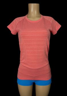 LULULEMON Run Swiftly Tech Short Sleeve 8 M Heathered Love Red Top Yoga #Lululemon #ShirtsTops