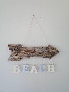 Driftwood arrow   Beach sign   Driftwood sign   Driftwood beach sign   Beach arrow   Coastal decor   Hanging driftwood arrow   Beach decor by EnglishDelights on Etsy