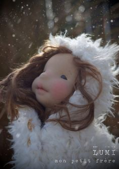 Lumi-natural fiber art doll by Mon Petit Frère