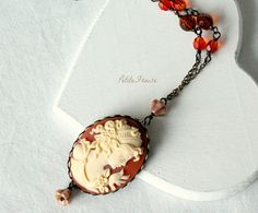 vintage acrylic silhouette necklace