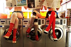 fashion, knee socks, legs, pin up, vintage Creative Photography, Portrait Photography, Photography Editing, Color Photography, Laundry Shoot, Laundry Art, Coin Laundry, Pin Up, Photoshoot Concept