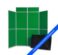 8 Panel Folding Display Boards. Free standing display panel with header panels and free carry bag. £155 from XL Displays UK.