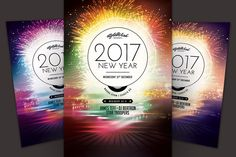 2017 New Year Flyer by styleWish on @creativemarket