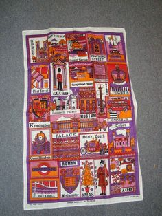 wicked cool vintage tea towel
