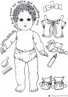 Page one of Baby Paper Doll