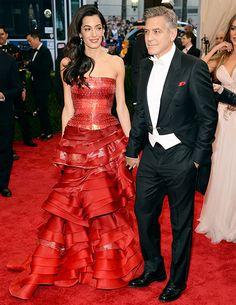 George Clooney, Amal Alamuddin Are Perfect on Met Gala 2015 Red Carpet - Us Weekly
