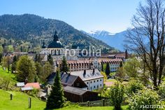 Ettal Abbey in Upper Bavaria, Germany.