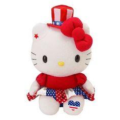 """Hello Kitty 10"""" Plush: Flag"""