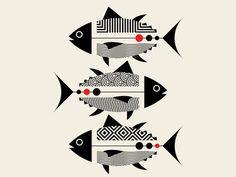 An ongoing illustration project where we interpret and explore the animal kingdom through our minimalist design lens. Illustration Inspiration, Art And Illustration, Animal Illustrations, Tribal Art, Geometric Art, Indian Folk Art, Art Abstrait, Fish Art, Animal Design