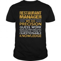 RESTAURANT-MANAGER T-Shirts, Hoodies (22.99$ ==► Order Here!)