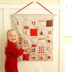 Countdown Calendar. Kids will clamor to see what's inside each pocket of this design that features easy applique and embroidery techniques.