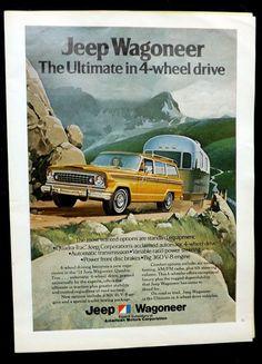 "Jeep Wagoneer 1974 Magazine Color Print Ad 8"" X 11"""