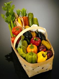 Vegetable - Basket  full-sized fake food