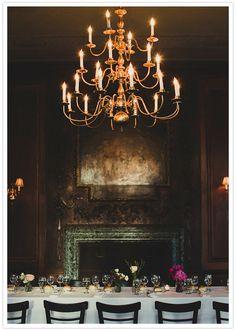amazing table & chandelier