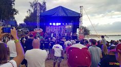 Awards stage at the Jettribe Nysa Jet Ski Europe Championship in Nysa Poland.