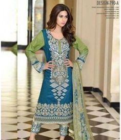 Karam Embroidered  Lawn Suits Collection 790_A