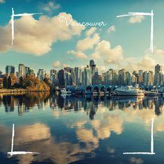 Vancouver vue par Marion Vancouver, New York Skyline, Canada, Painting, Travel, Suspension Bridge, Floating House, Pontoons, The Pacific