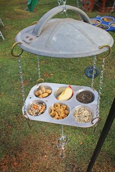 Repurposed / Upcycled Hillbilly Bird Feeders - These would be great squirrel feeders