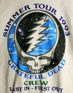 Last One!! RARE! Grateful Dead CREW Shirt! Authentic Vintage 1993! Grateful Dead ~ East Coast Summer Tour Size XXL by Offbeatrelics