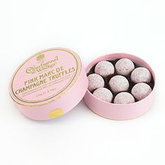 Charbonnel et Walker Marc de Champagne Pink Chocolate Truffles from Bloomingdale's Cause they're fancy.