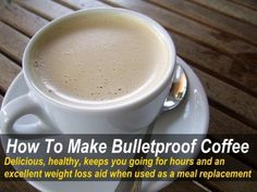 Bulletproof coffee is delicious and keeps you going for hours, and there's no caffeine crash! It can also aid weight loss and it's great a meal replacement.