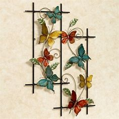 Butterfly Dance Metal Wall Art