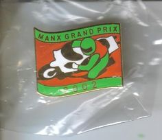 Manx Grand Prix badge 2002 tt races.
