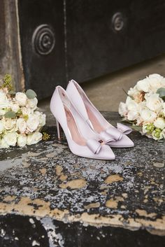 PASTEL HUES: Lift your outfit with a pair of satin bow court heels.