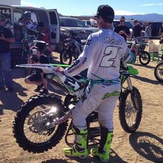 The king is on now! Kawasaki Dirt Bikes, Monster Energy, Motocross, King, Dirt Biking, Dirt Bikes