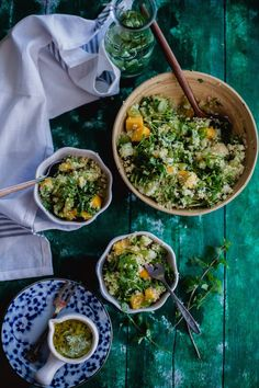 Fruity Couscous Salad With Tomatillo Sauce