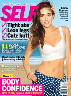 self magazine images | Emmy Rossum: The Shocking Food She Cuts Out To Lose Weight