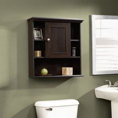Decorative Wall Shelf Espresso Brown - Sauder : Target