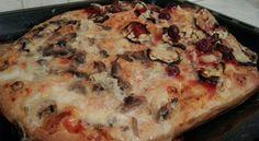 Pizza di grano tenero semi_integrale tipo 1 funghi/Gorgonzola e melanzane/pomodorini/grana