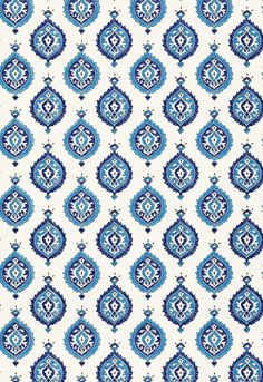 Martyn Lawrence Bullard for Schumacher Wallpaper Taj Trellis in Jaipur Blue Peacock Wallpaper, Wallpaper Roll, Pattern Wallpaper, Print Wallpaper, Pattern Art, Pattern Design, Print Design, Peacock Pattern, Islamic Art