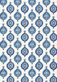 Samovar in Peacock, 5006680. http://www.fschumacher.com/search/ProductDetail.aspx?sku=5006680  #Schumacher