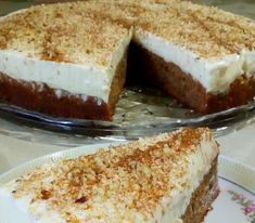ΠΟΥΤΊΓΚΑ...( Καρυδόπιτα με κρέμα) Την έφτιαξα για τουρτίτσα να κεράσω τους αγαπημένους μου 💝💝 Υλικά για τη βάση 5 αυγά 1 ποτήρι ζάχαρη (έβ... Cheesecake, Pudding, Sweets, Easy, Desserts, Food, Tailgate Desserts, Deserts, Gummi Candy