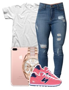 """145"" by jalay ❤ liked on Polyvore featuring Michael Kors and New Balance"