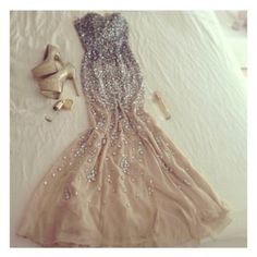 Reception dress: dress silver beige nude sequin dress beautiful prom dress prom long prom dresses beaded, champagne, dress, gold, backless dress sequin