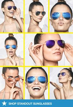 Hey girl! Summer looks good on you. Visit macys.com for these Ray-Ban mirrored aviators and more of the season's hottest sunglasses now!