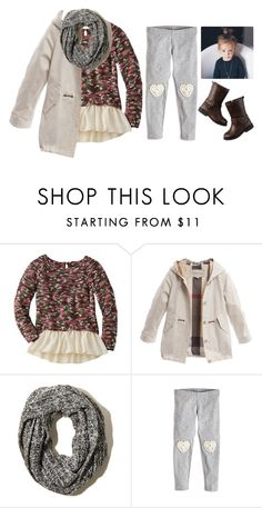 """braylee's ootd"" by dearfuturekiddos ❤ liked on Polyvore featuring Burberry, Hollister Co. and Carter's"