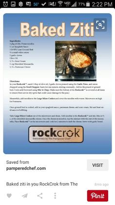 This pot goes anywhere. Oven, stovetop, microwave, Bbq grill, dishwasher.anywhere..Get your Rockcrok at Www.pamperedchef.biz/LindaLauas