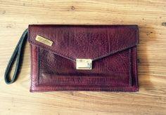 italian leather wristlet vintage wrist bag genuine leather wallet