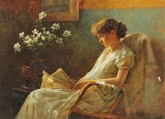 catonhottinroof:  Charles Courtney Curran (1861-1942) Reading
