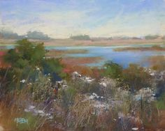 """""""A Tip for Creating Depth in a Pastel Painting"""" original fine art by Karen Margulis"""