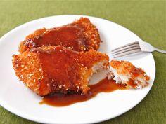 Crispy Panko Fish with Orange Sesame Sauce