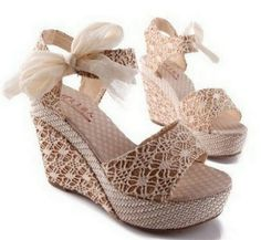 Women's Fashion Shoes Fancasen Peep Toe Platform Wedge Lady Womens in Beige Platform High Heels, High Heel Pumps, Pump Shoes, Shoe Boots, Peep Toe Wedges, Peep Toe Heels, Wedge Sandals, Heeled Sandals, Moka